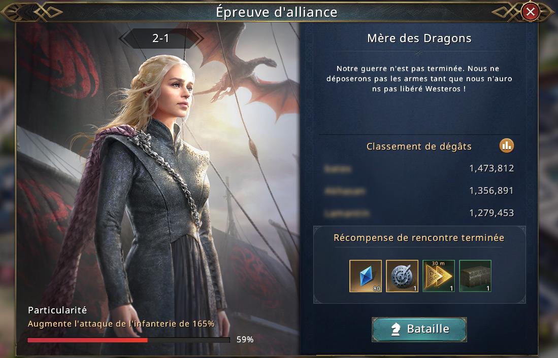 Épreuves d'alliance - Mère des dragons