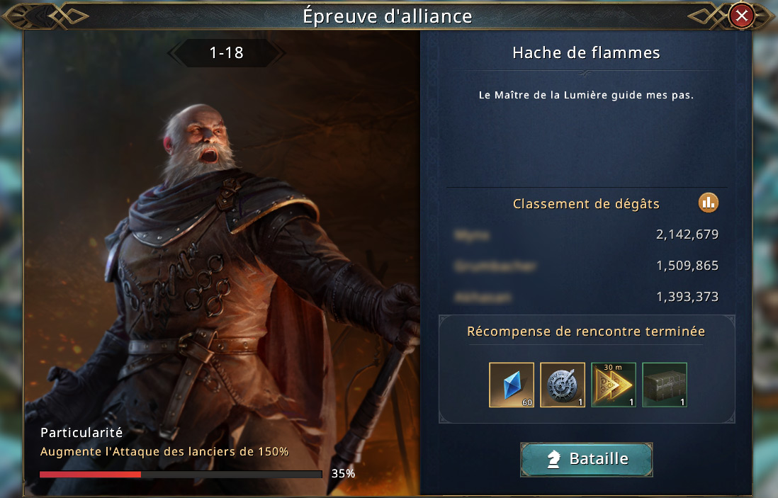 Épreuve d'alliance - Raymond