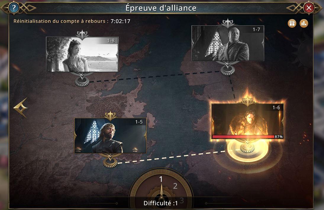 Epreuves d'alliance