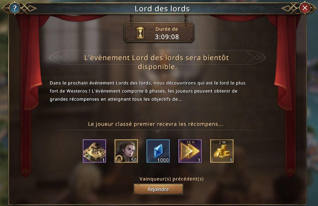 Récompenses du Lord des Lords