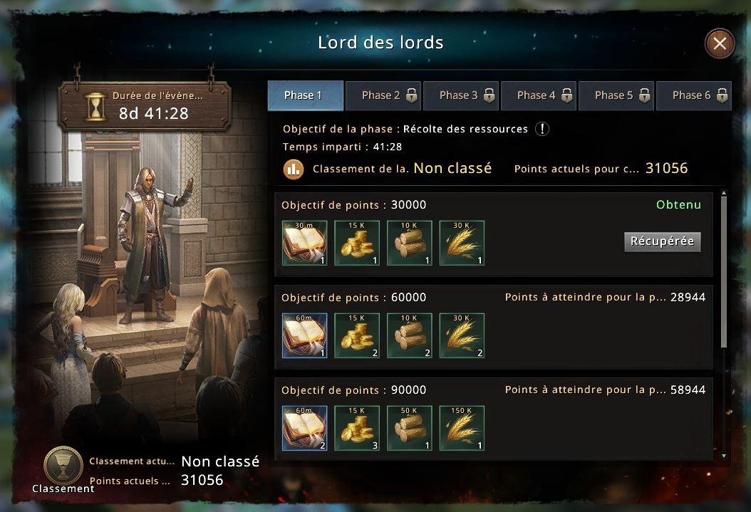 1er niveau Lord des Lords réussi