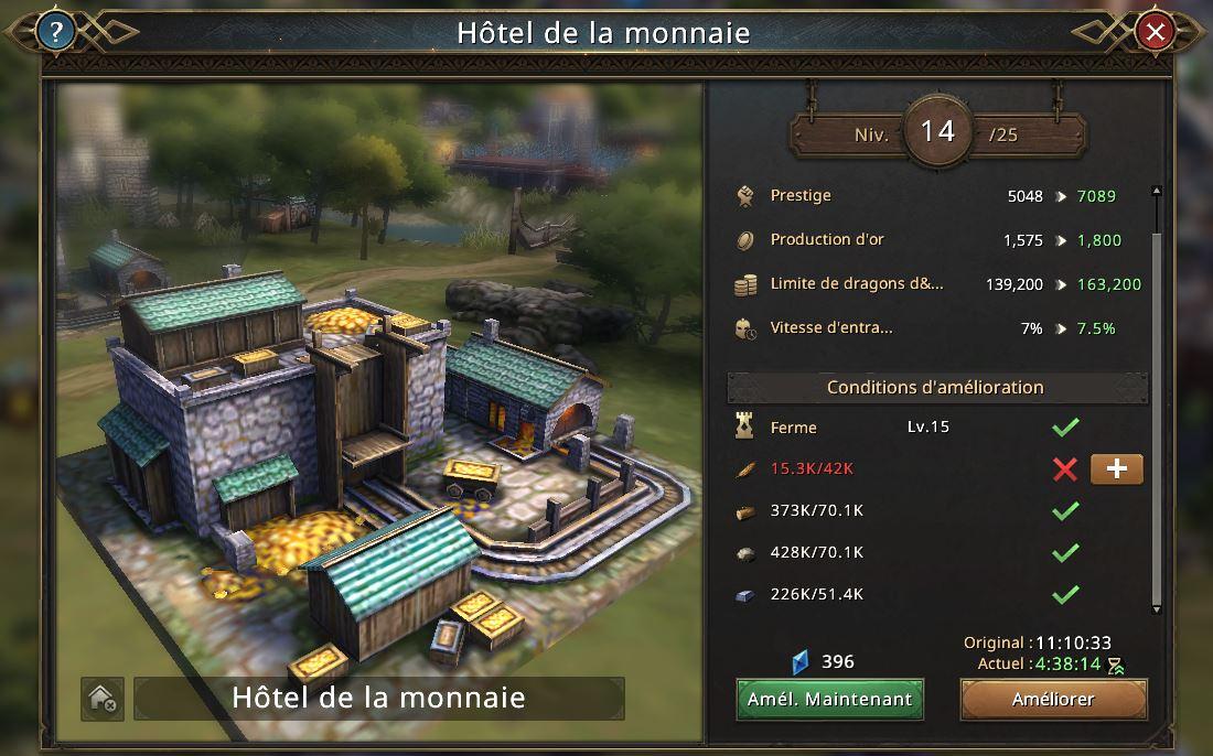 Evolution de l'hôtel de la monnaie