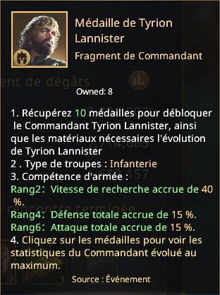 Médaille de Tyrion