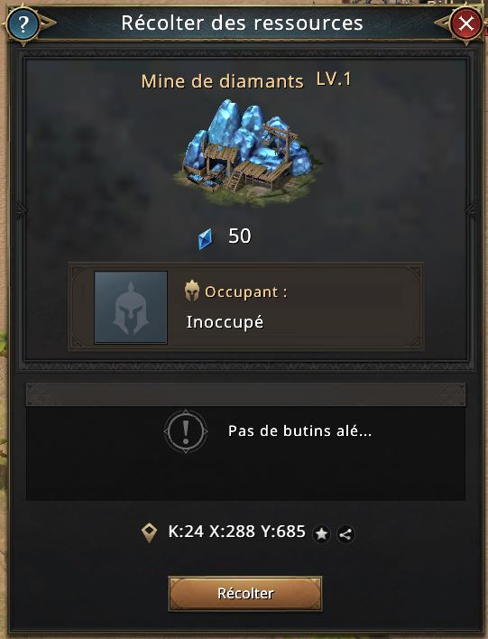 Mine de diamants