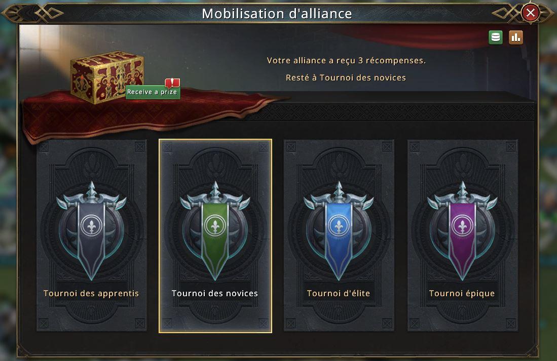 Résultats de la mobilisation d'alliance