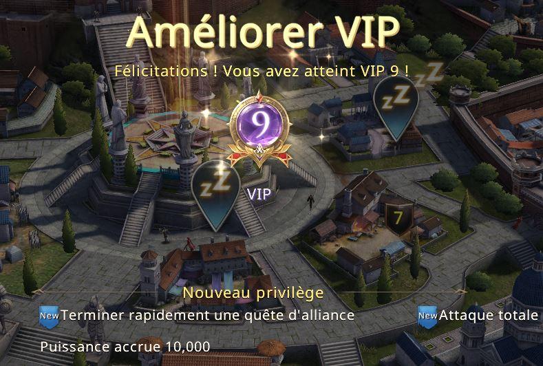 Niveau VIP 9 atteint