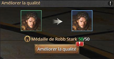 Amélioration de la qualité de Robb