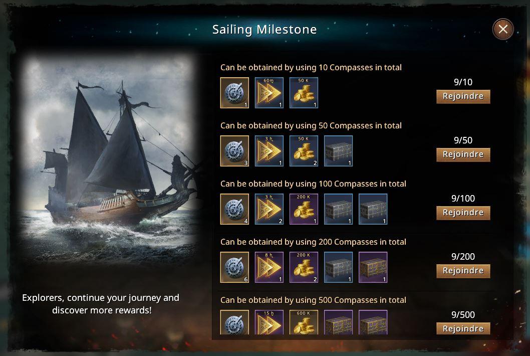 Sailing milestone