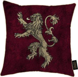 Coussin lion maison Lannister