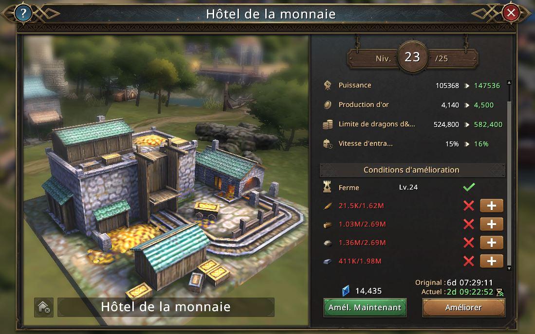 Hôtel de la monnaie niveau 24