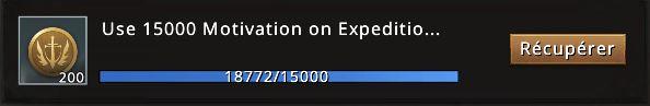 Mission utiliser 15000 de motivation accomplie