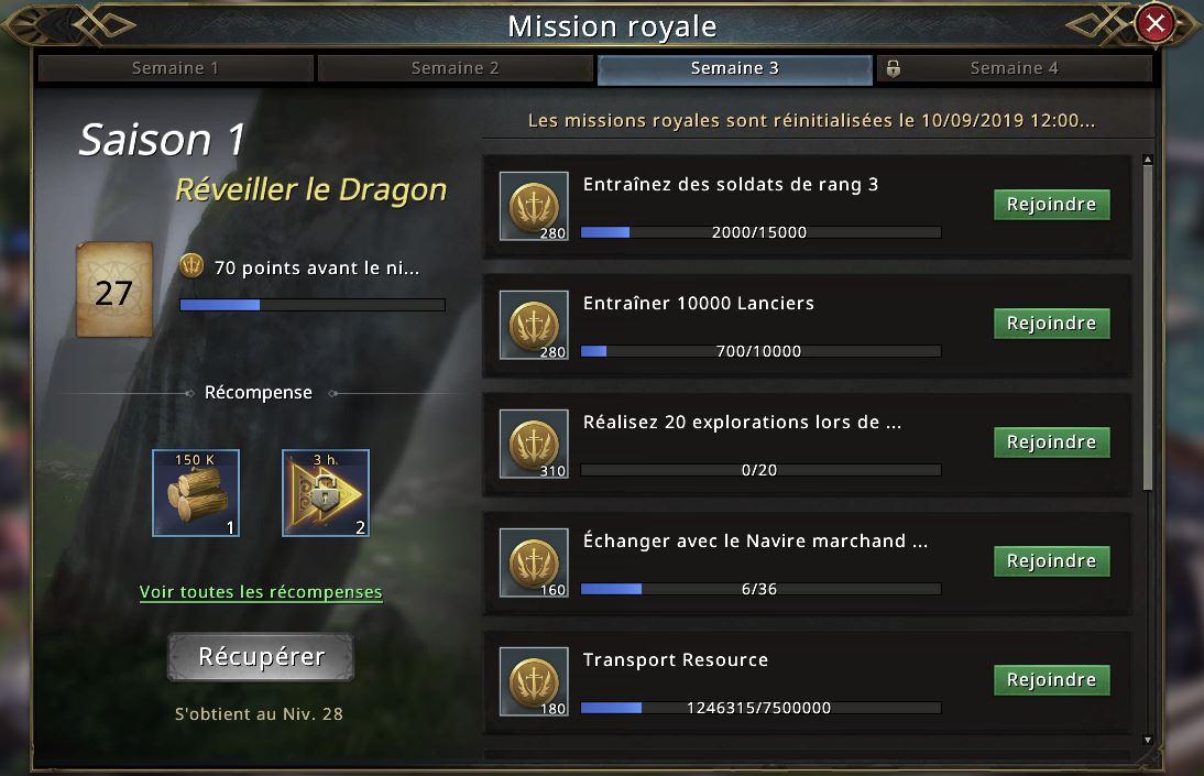 Passe Westeros - Missions de la saison 3