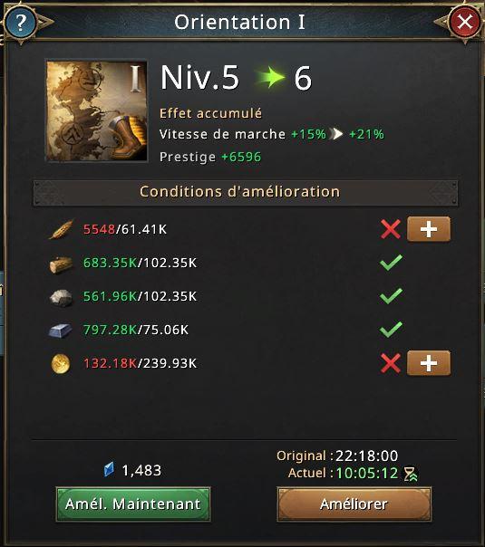 Recherche Orientation I vers le niveau 6