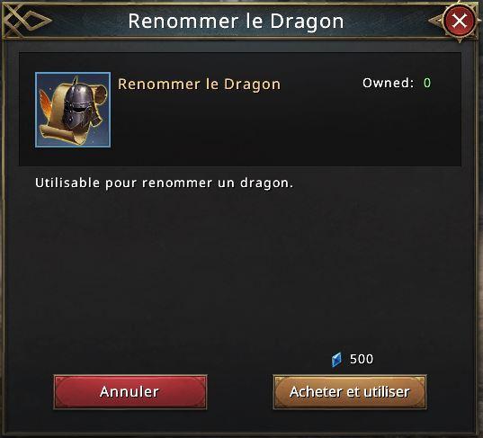 Renommer dragon
