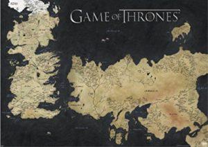 Poster carte de Westeros et Essos