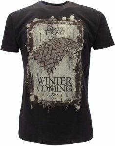 T-shirt emblème loup Stark Winter is Coming