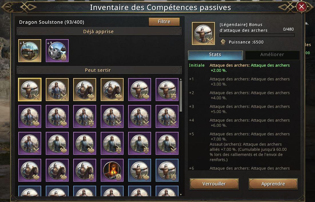 Compétences passives