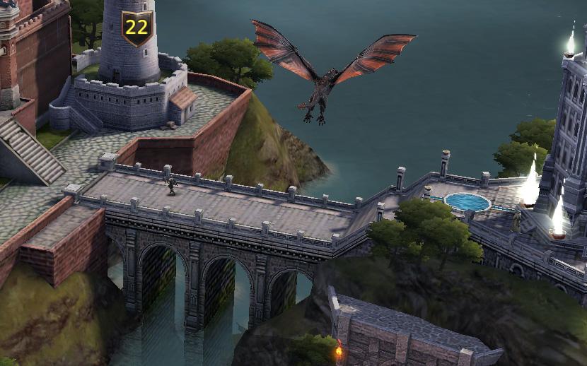 Dragon en promenade