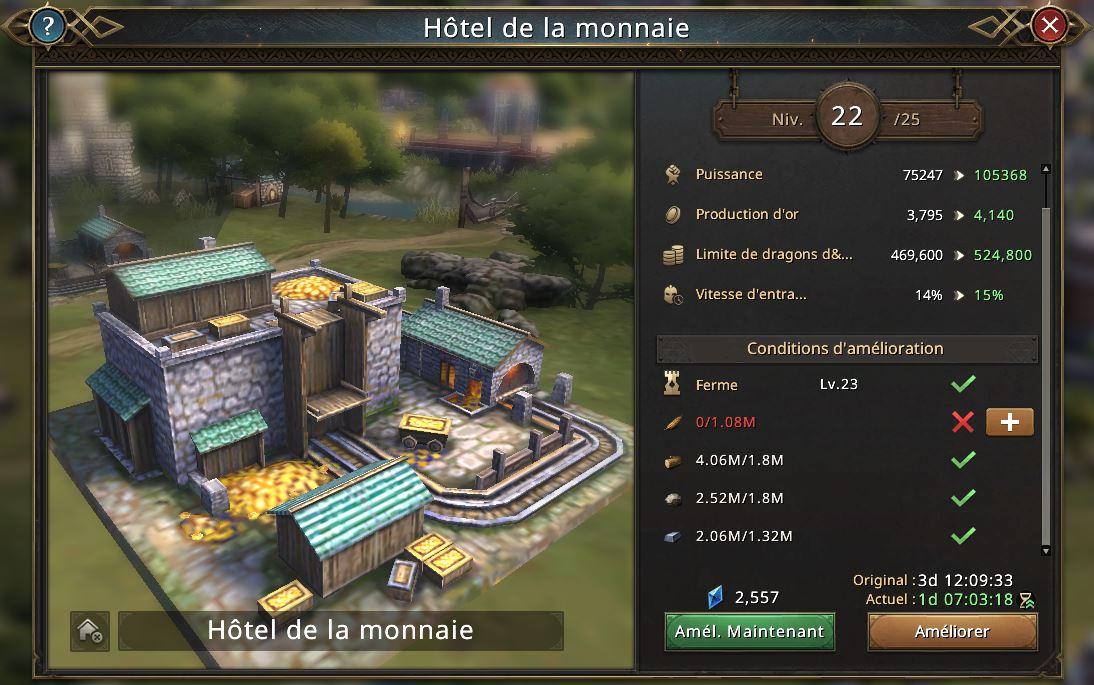 Hôtel de la monnaie vers le niveau3