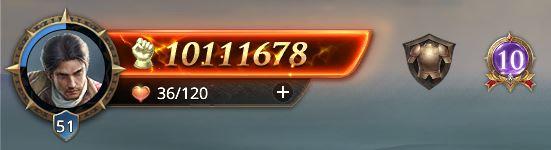 Lord nvieau 51 avec 10111678 points de prestige