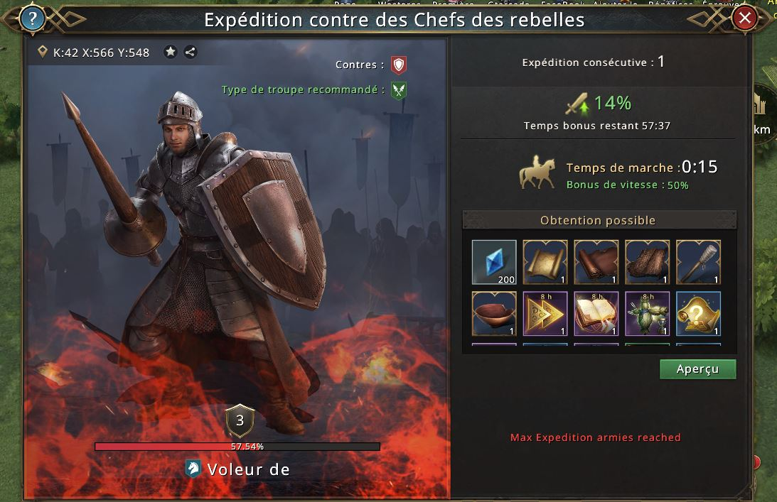 Max expedition armies reached