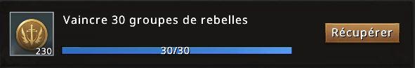 Mission vaincre 30 groupes rebelles accomplie