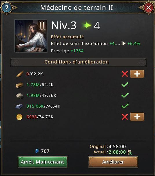 Recherche Médecine de terrain II vers niveau 4