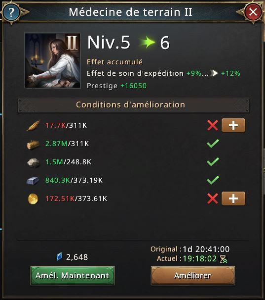 Médecine II vers niveau 6