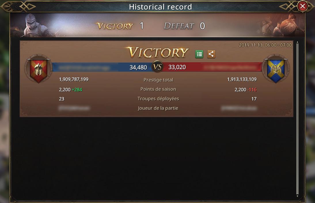 Histoircal record - notre alliance