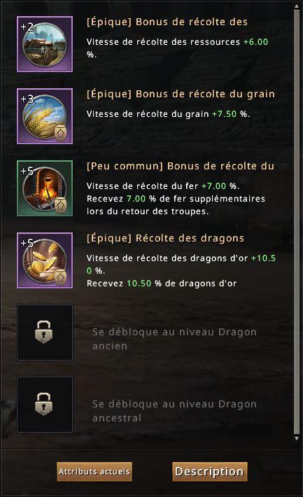Compétences de dragon