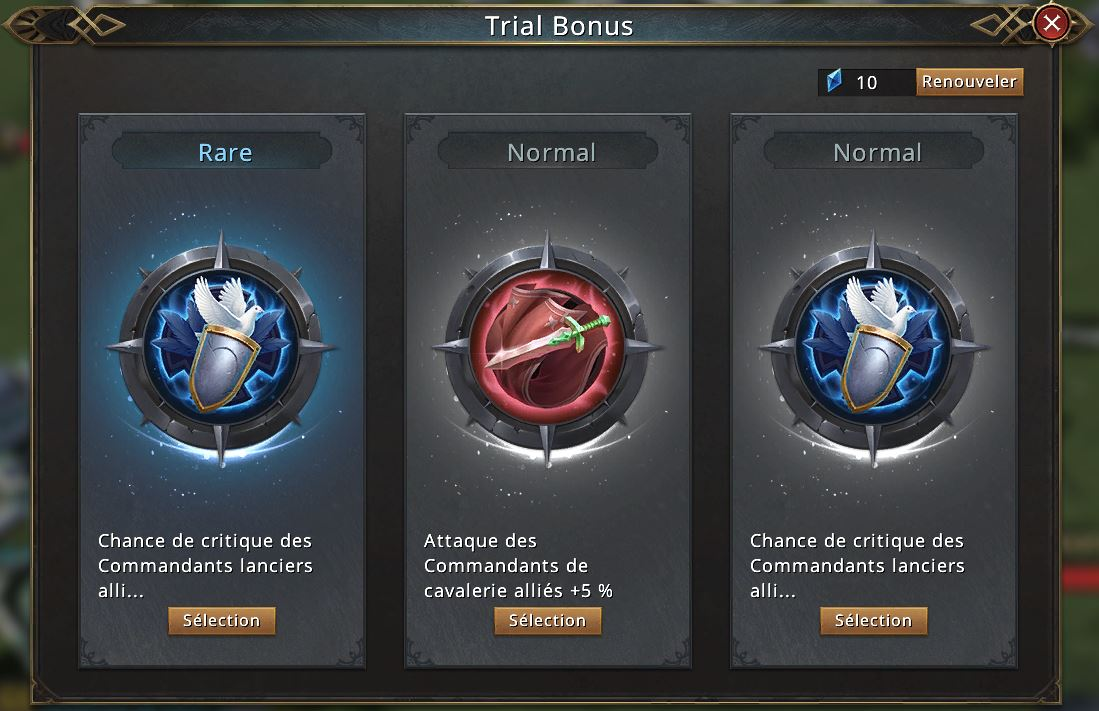 Trial bonus