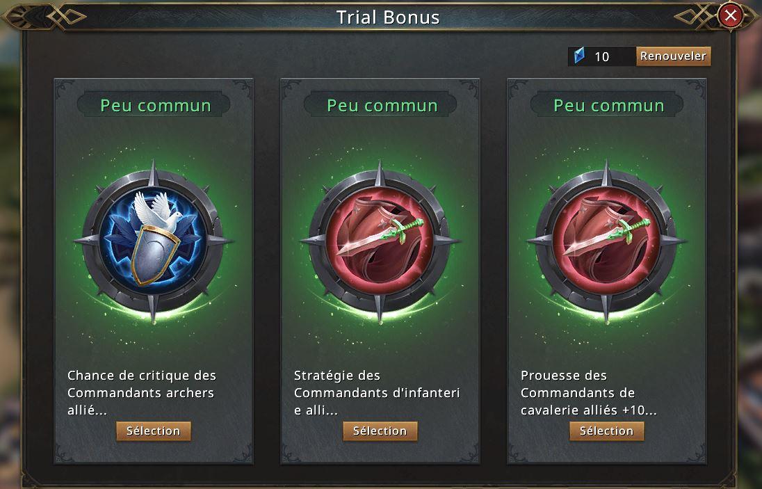 Trial bonus des niveaux 1-1 à 1-5