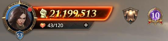 Lord niveau 57 avec 12199513 points de prestige