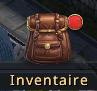 Point rouge sur le bouton inventaire
