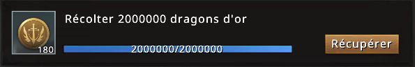 Mission 20000000 de dragons d'or accomplie