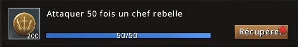 Mission Passe Westeros 50 chefs rebelles accomplie