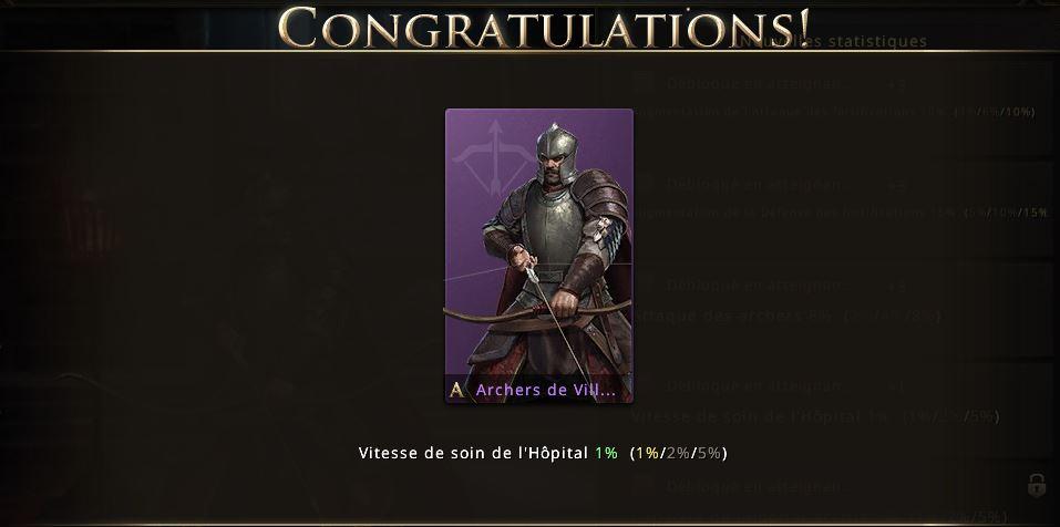 Apparence de troupes archers de Villevieille