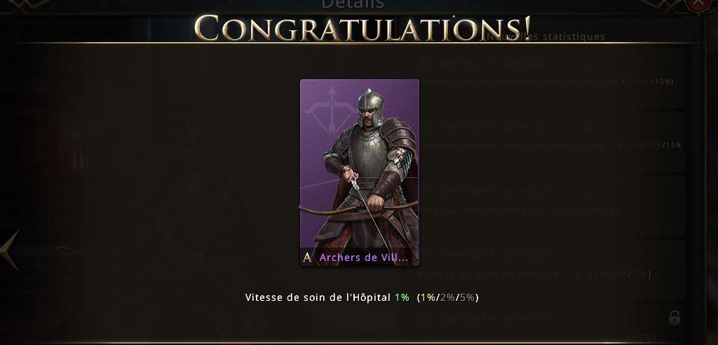Archers de Villevieille niveau violet