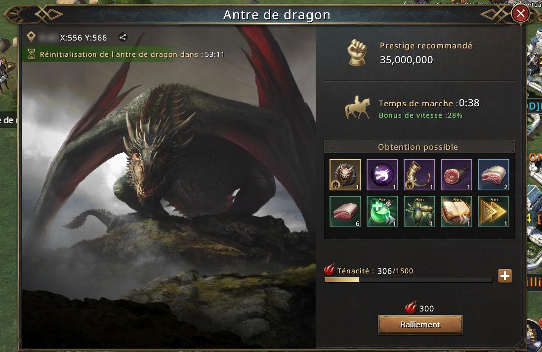 Détail de l'antre du dragon