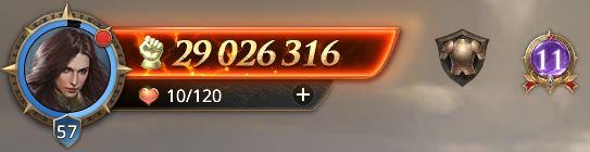 Lord niveau 57 avec 29 026 316 points de prestige