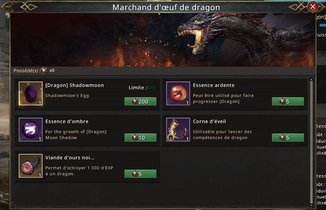 Marchand d'oeuf de dragon