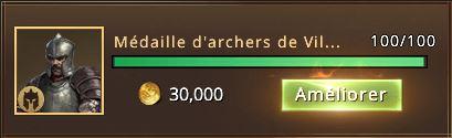 100 médailles d'archers