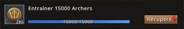 Passe Westeros mission 15000 archers accomplie