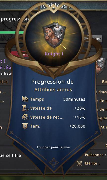 Rang de noblesse Knight I