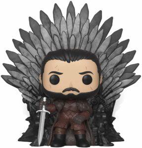 Figurine Jon Snow assis sur le trône