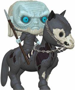 Figurine marcheur blanc à cheval