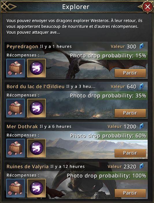 Récompenses d'exploration du 2e dragon