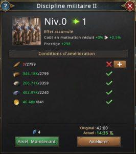 Recherche discipline militaire vers 1