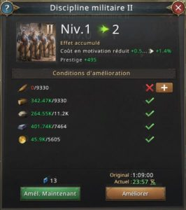 Recherche discipline militaire vers 2