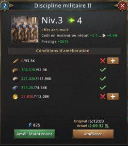 Recherche discipline militaire vers 4